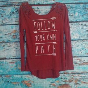 Tops - Follow Your Own Path Long Sleeve Shirt NWT
